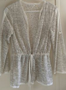 Calvin Klein lace belted cardigan